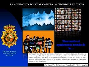 """Ponencia de Jesús Ortega titulada """"La actuación policial contra la ciberdelincuencia"""""""