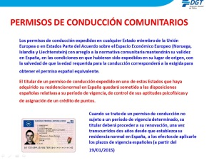 Sobre permisos de conducir comunitarios y no comunitarios. Infracciones