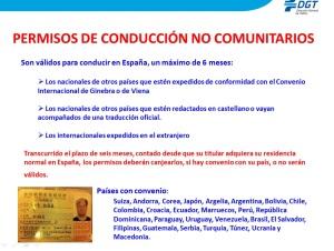 PERMISOS CONDUCIR NO COMUNITARIOS DGT 2
