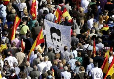Victimas terrorismo manifestacion