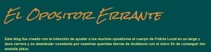 """Recomendación de Blog para opositores Policía Local de Andalucía. """"El Opositor Errante"""""""