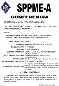 Conferencia En la línea de fuego. La realidad de los enfrentamientos armados.