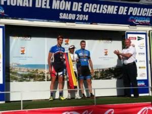 Javier López, de Villanueva del Arzobispo, subcampeón del mundo de ciclismo senior de Policías