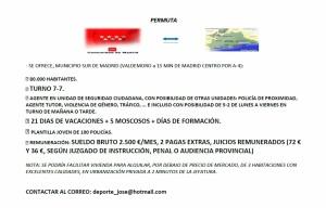 PLAZA EXCEDENCIA , PERMUTA Y/O COMISIÓN. PROVINCIA DE MÁLAGA
