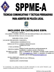 Curso semipresencial Técnicas comunicativas y tácticas persuasivas para agentes de la PolicÃ-a Local